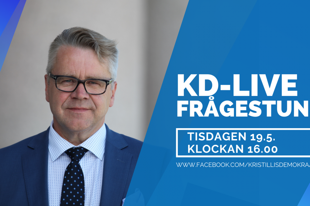 KD:s tvåspråkig Live-frågestund hålls i Facebook 19.5.