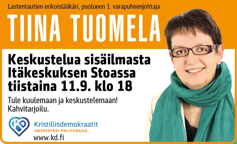 Keskustelua sisäilmasta -tilaisuus 11.9. Itäkeskuksen Stoassa