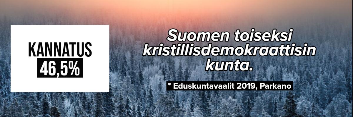 Kannatus 46,5%: Suomen toiseksi kristillisdemokraattisin kunta. Eduskuntavaalit 2019, Parkano.